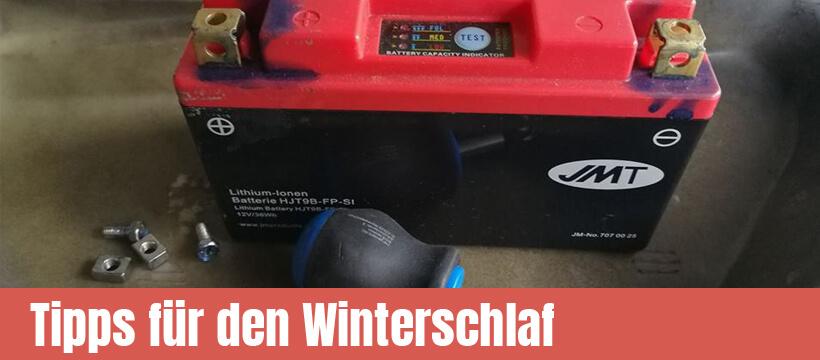 Winterschlaf Motorrad